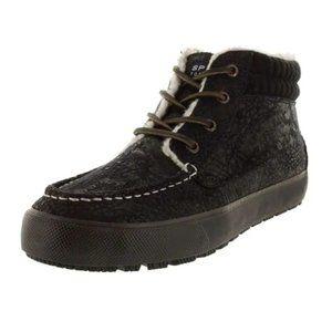 Sperry Bahama Lug Chukka Boot Black Size 10